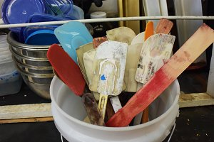 Spatulas in a Bucket