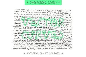 Pencil Vector Textures & TypeFace YD