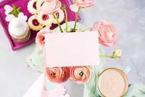 Pink card for mother's day