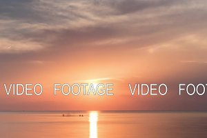 Timelapse of sunset over the sea