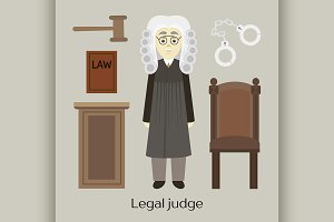 Hand drawn legal judge