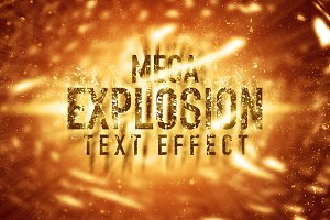 Mega Explosion Text Effect (SALE)