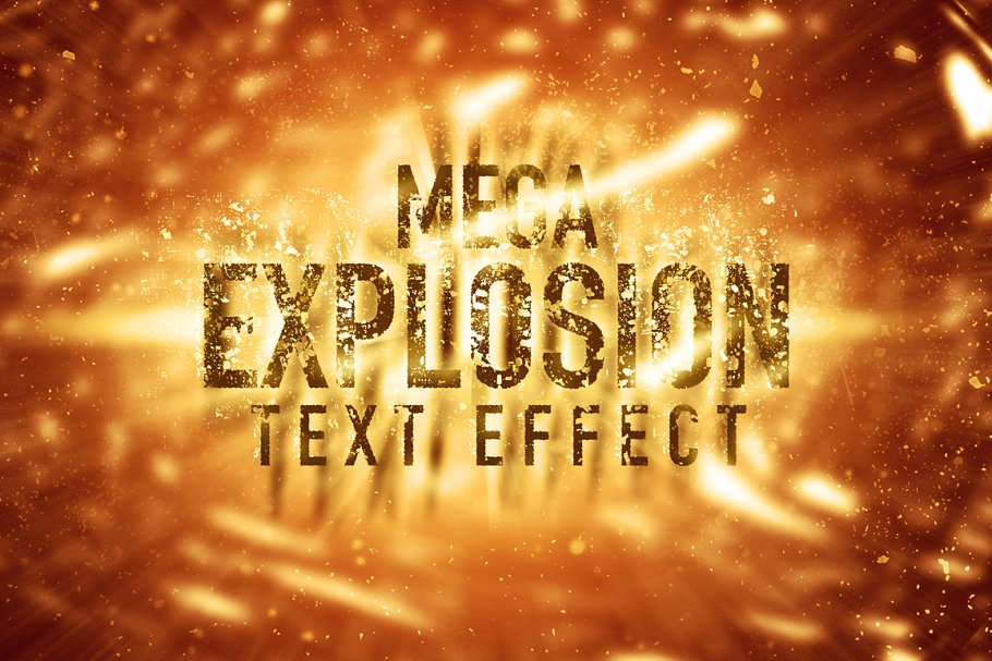 Mega Explosion Text Effect (SALE) ~ Photoshop Add-Ons