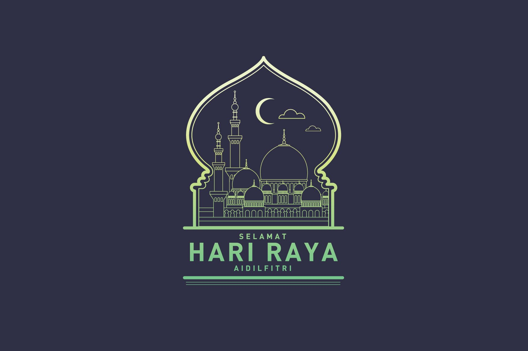 Raya greetings template vector illustrations creative market hari raya greetings template vector kristyandbryce Image collections