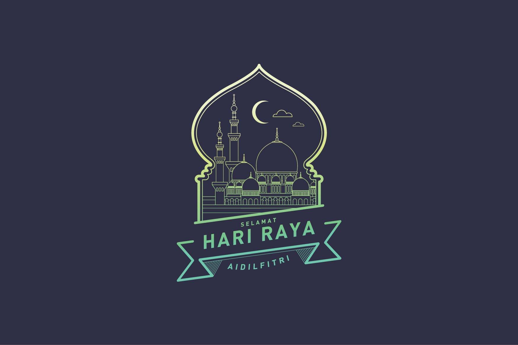 Hari raya greetings template vector illustrations creative market kristyandbryce Image collections