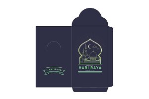 raya money packet template vector