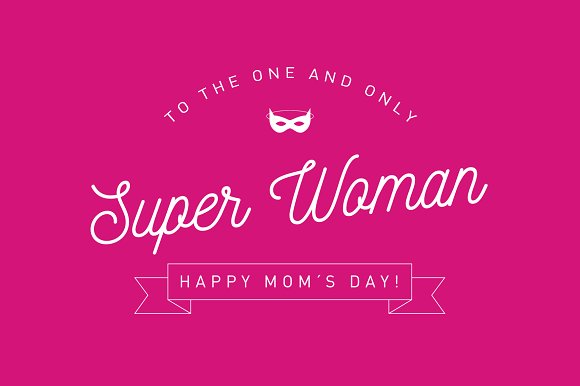 Mom's Day Greetings Template Vector