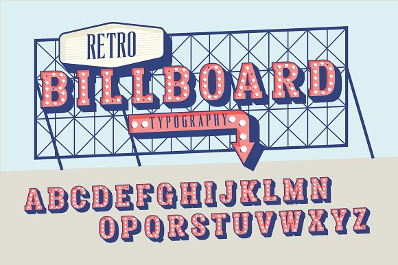 Retro Signage Billboard Typography