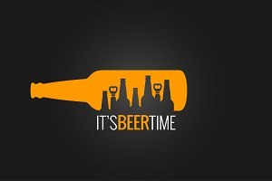 beer bottle concept background