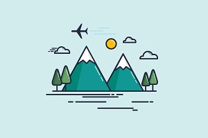 travel template icon/ vector