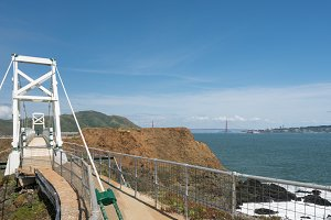 Bridge leading to the lighthouse at Point Bonita Marin County