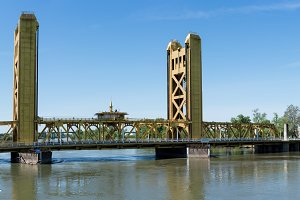 Tower Bridge Gateway across Sacramento River in California