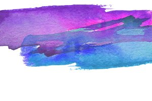 Abstract watercolor blot background