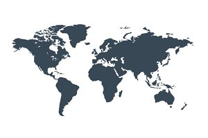 Gray similar world map vector
