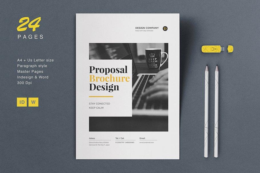 Proposal Brochure ~ Brochure Templates ~ Creative Market