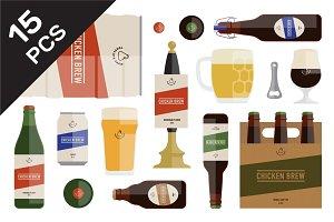 Flat Beer Branding Set