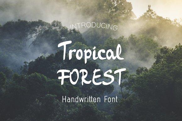 Tropical Forest-Handwritten font
