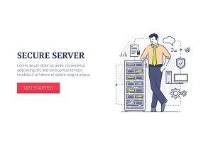 'Secure server' web banner