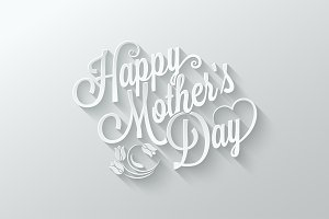 mothers day paper lettering