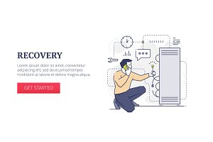 'Recovery' web banner