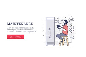 'Maintenance' web banner