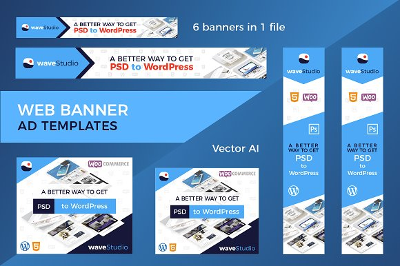 web banner ad templates web elements creative market