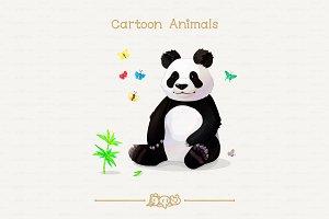 ♥ vector panda & butterflies