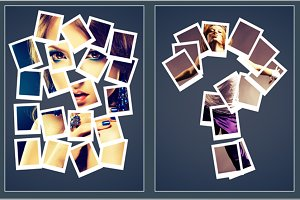 Polaroid Puzzle Photo Frame Template