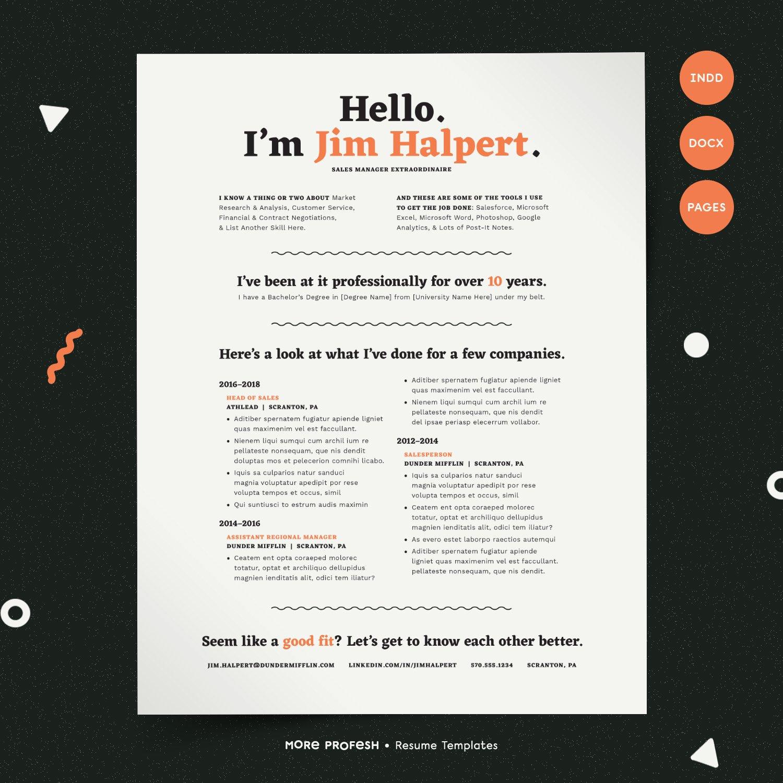 Human Voiced Resume Cv Kit Resume Templates Creative Market