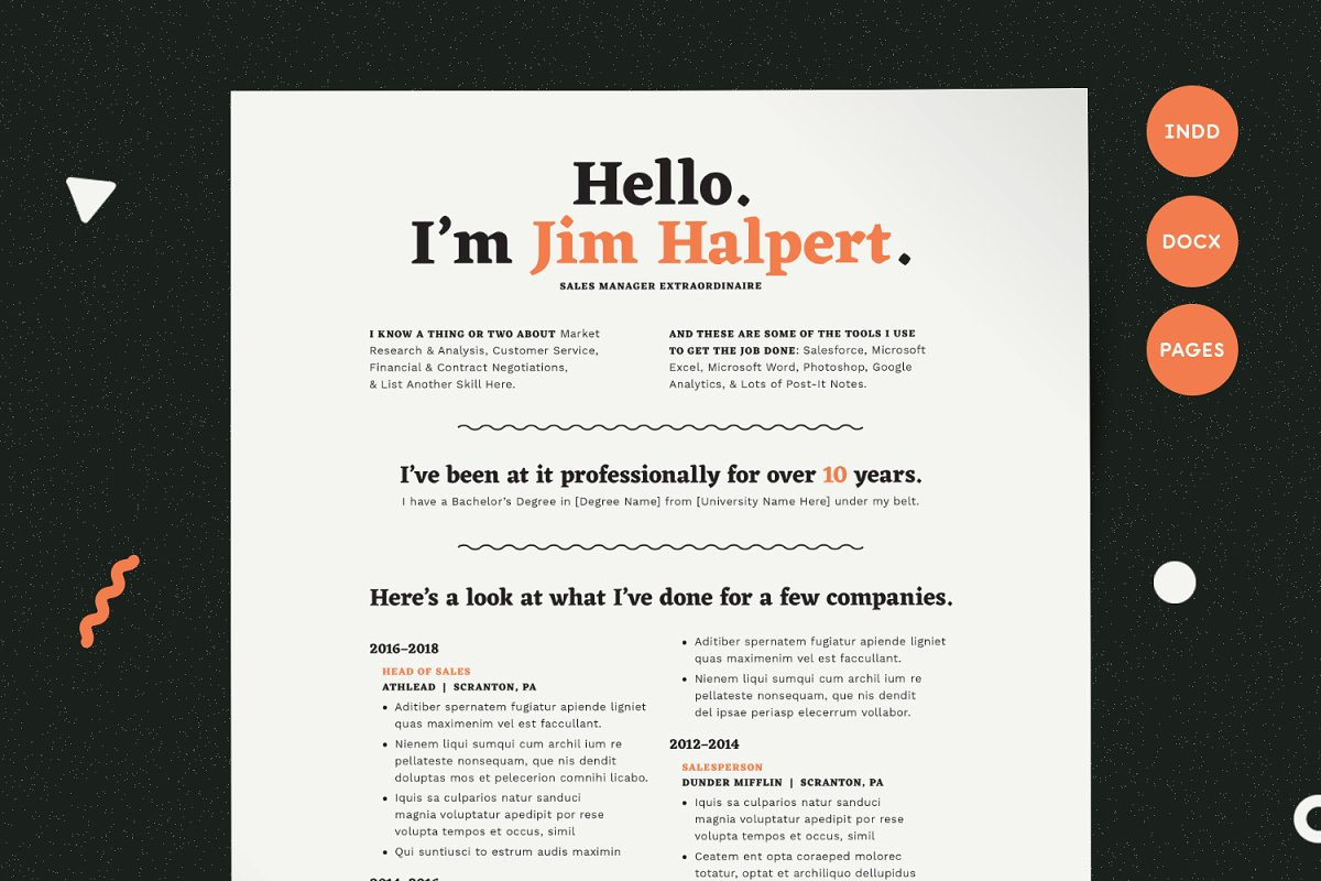 Human Voiced Resume CV Template Templates Creative Market
