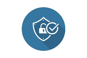 Security Status Icon. Flat Design.