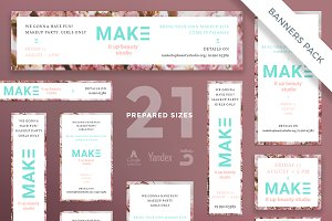 Banners Pack | Make It Up Beauty