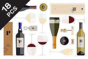 Flat Wine Branding Set