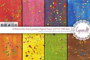Brushstroke acrylic texture digital