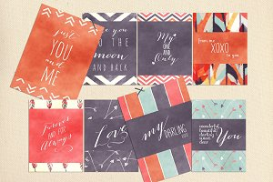Digital Journal Cards - Love Quotes