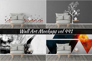 Wall Mockup - Sticker Mockup Vol 441