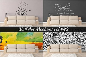 Wall Mockup - Sticker Mockup Vol 442