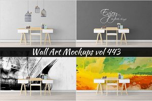Wall Mockup - Sticker Mockup Vol 443
