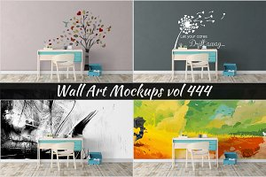 Wall Mockup - Sticker Mockup Vol 444