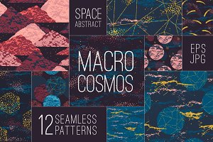 SPACE abstract seamless patterns.