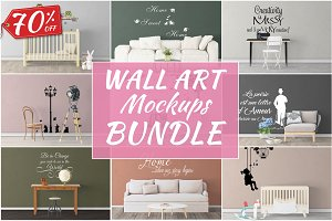 Wall Art Mockups BUNDLE V44