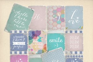 Journaling cards - Baby Quotes