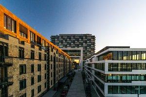 Sunset kisses buildings