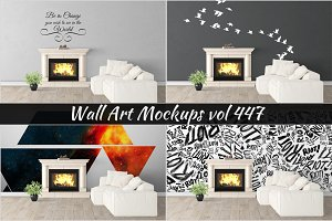 Wall Mockup - Sticker Mockup Vol 447