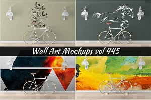 Wall Mockup - Sticker Mockup Vol 445