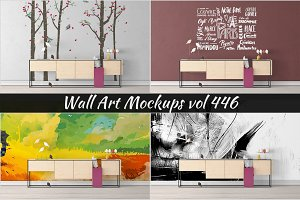Wall Mockup - Sticker Mockup Vol 446