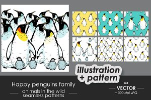 Penguins pattern set