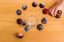 Cake-Pops in Stick in a Glass
