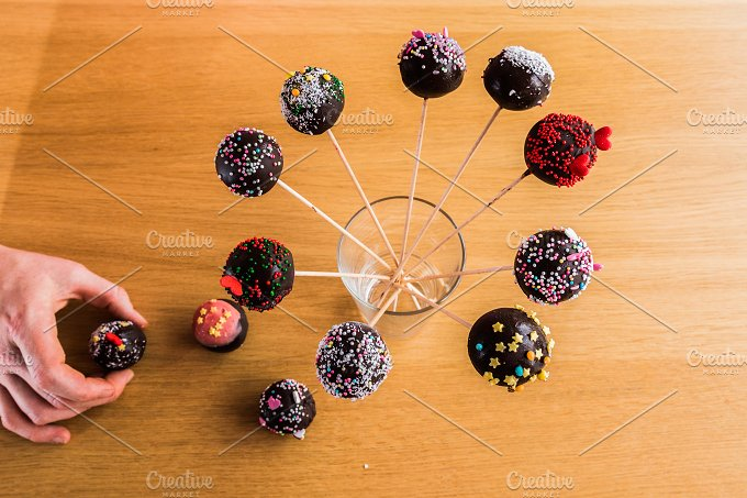 Delicious Handmade Cake-Pop in a Glass Waiting to Be Eaten.jpg - Food & Drink