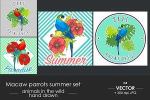 Summer parrots set